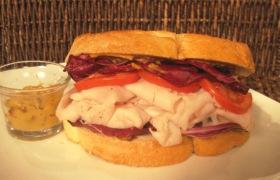 Country Turkey Club on Grilled Sourdough with Tart Cherry Mustard
