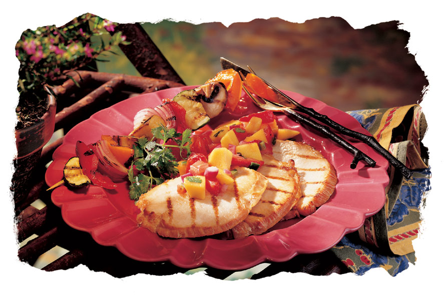 Grilled Turkey with Mango Chutney