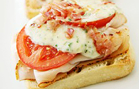 Hot Brown Turkey Sandwich on Toasted Ciabatta
