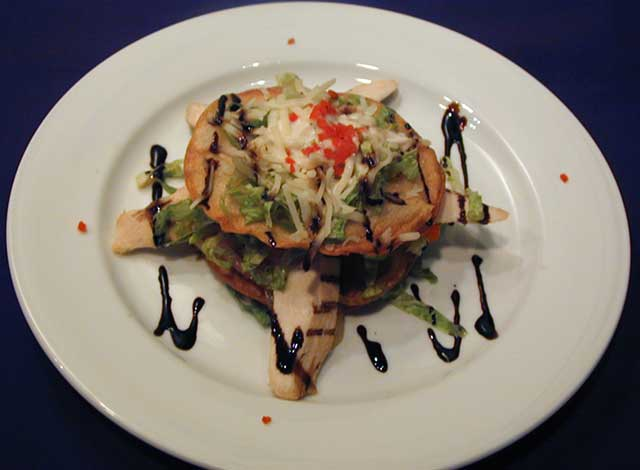 Salad Grilled Chicken Fajita Tostada