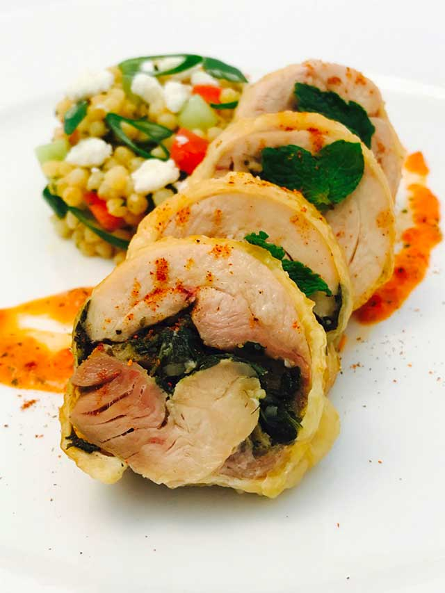 Chermoula Rubbed Organic Chicken Leg Roulade