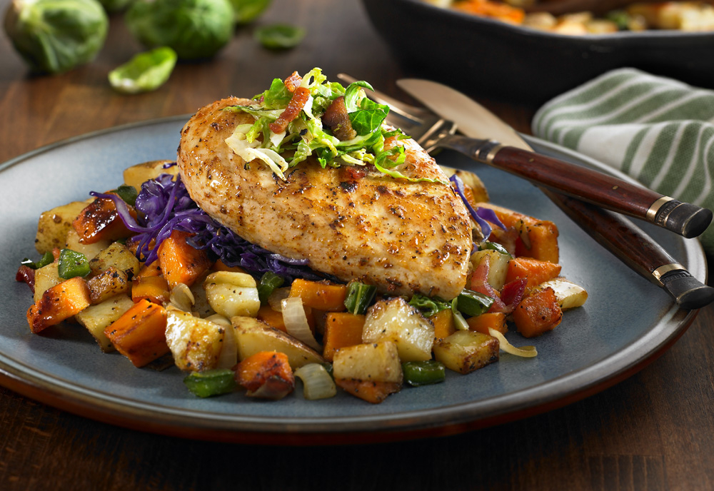 HARVESTLAND® Chicken Breast with Sweet Potato and Brussels Sprout Hash