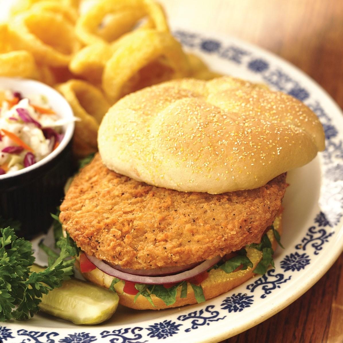 Kings Delight® No Antibiotics Ever, Fully Cooked, Spicy, Whole Grain Chicken Breast Pattie Fritters, Cn…<br/>(66222)